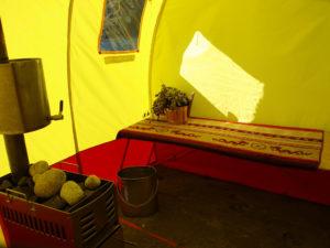 Баня палатка вид изнутри фото