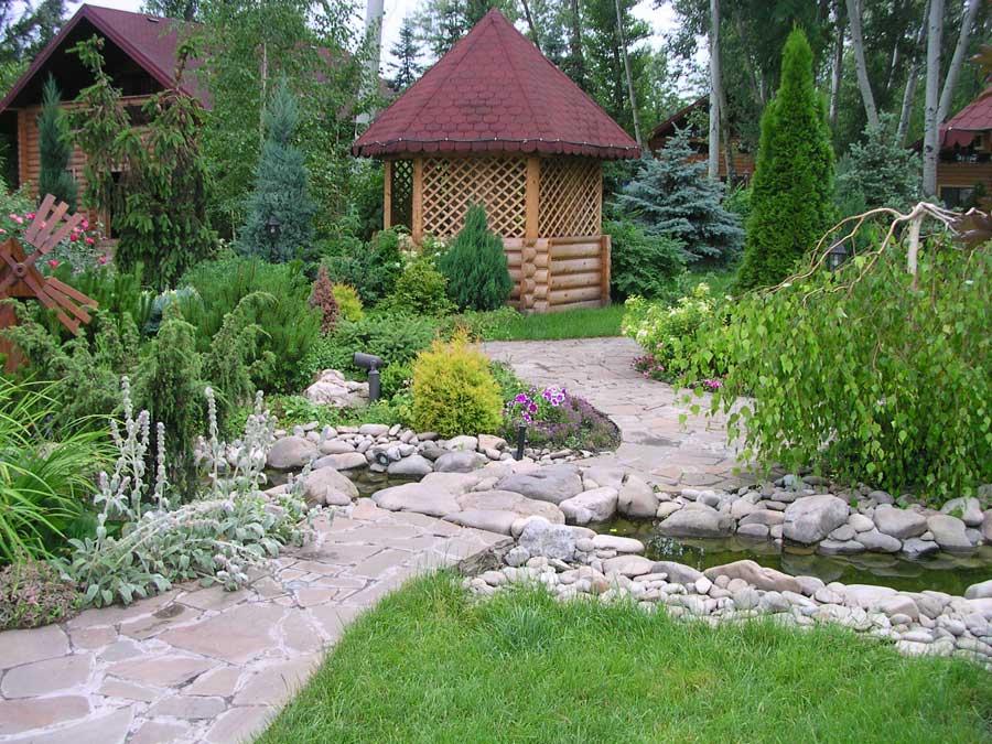 Создание пейзажного сада фото